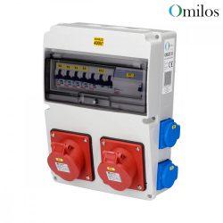 OMILOS OMLD110 Szerelt ipari elosztótábla vezetékezve IP44