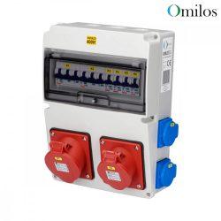 OMILOS OMLD111 Szerelt ipari elosztótábla vezetékezve IP44
