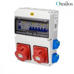 OMILOS OMLD112 Szerelt ipari elosztótábla vezetékezve IP44