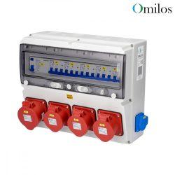 OMILOS OMLD113 Szerelt ipari elosztótábla vezetékezve IP44