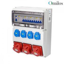 OMILOS OMLD114 Szerelt ipari elosztótábla vezetékezve IP44