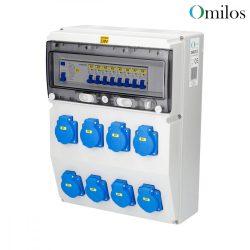 OMILOS OMLD115 Szerelt ipari elosztótábla vezetékezve IP44