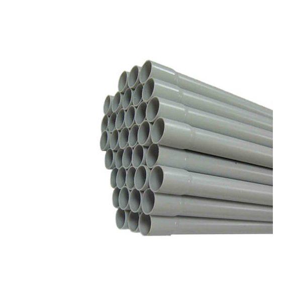 Mü.II.  cső PEP 20  szürke /3m   tokos végű