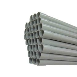 Mü.II. tokozott cső PEP 40 szürke /3m Pipelife tokos végű