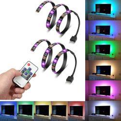 TV háttér RGB világítás 5V USB csatlakozóval 10 gombos RF távirányítóval (PL9614)