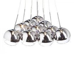 ASTRAL függeszték  krómozott üveg/tiszta üveg 230V/12V G4 10x20W, Rendl Light Studio R10513