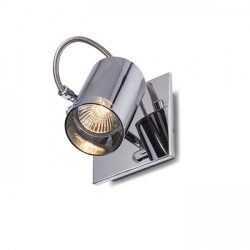 BUGSY I fali lámpa  krómozott üveg 230V GU10 50W, Rendl Light Studio R10521