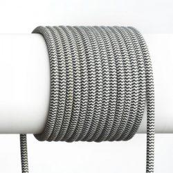 FIT 3x0,75 1bm textil kábel fekete/fehér, Rendl Light Studio R12216