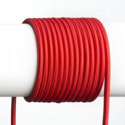 FIT 3x0,75 1bm textil kábel piros, Rendl Light Studio R12224