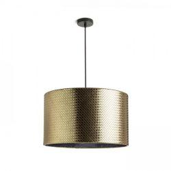 EL DORADO 43 függeszték aranysárga krómozott fólia 230V E27 28W, Rendl Light Studio R13359