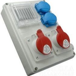 Ipari elosztódoboz ROS-I 1603 /S 2*230V + 1*16A-5p + 1*32A-5P + ablak +kismegszakítók SEZ