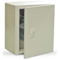 SKY131 Fémszekrény 400x300x200 Skybox MB-4030D200-SDL szerelőlappal