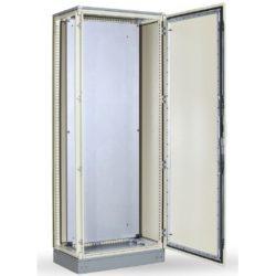 SKY816 Álló szekrény szerlappal 2000x1000x400 IP55&IK10 CB-20010040 Tartalma:1,ajtó;2,hátsó panel;3,oldalsó panel;4,szerlap;5,alj,tető,lábazat,alkatré