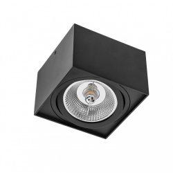 CHLOE AR111 GU10 IP20 square black mennyezeti lámpatest, SLIP005039 SpectrumLED