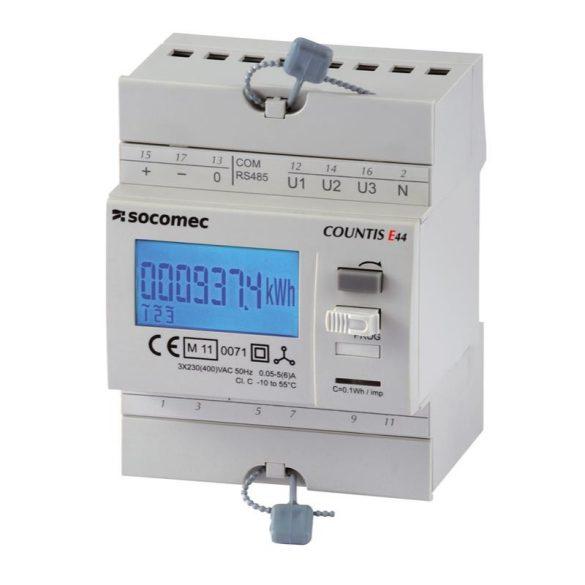 Fogyasztásmérő áramváltós 3F digitális, DIN sínre, 48503008 Socomec almérő