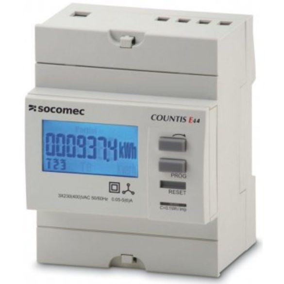 Fogyasztásmérő áramváltós 3F digitális, MID hitelesített, DIN sínre, MODBUS 48503014 Socomec almérő