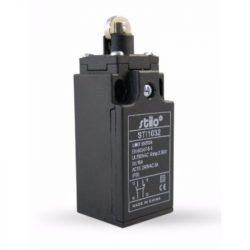 STI1032 Végálláskapcsoló görgős, 3A/240VAC, 1NC+1NO, műa.ház, IP65, PG13,5, EN60947-5-1, Stilo