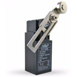 STI1035 Végálláskapcsoló állítható karos-görgős, 3A/240VAC, 1NC+1NO, műa.ház, IP65,PG13,5, Stilo