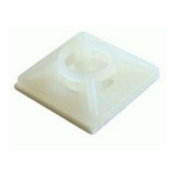 Kábelkötegelő talp 28x28 /5,5 fehér, csavarozható, öntapadós STI1090 Stilo