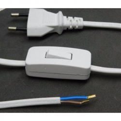 STI1112 FLEXO  MTL 2x0,75   2,3 fm fehér,  kapcsolós szerelt kábel, Stilo
