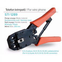 STI1289 Telefon krimpelő fogó 6P4C (RJ-11), 6P6C (RJ-12), 8P8C (RJ-45)  Stilo