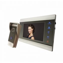 STI1294 Kaputelefon szett video 7col 4 vezetékes 600TVL esőfedővel, 45 fokos tartóval Stilo