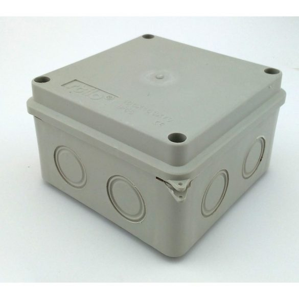 Kötődoboz 100x100x70 sima falú  IP65  Stilo (STI1501) /S-BOX helyett/