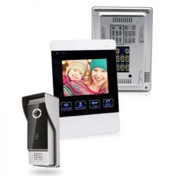STI1521 Kaputelefon szett video 4,3col 4 vezetékes 600TVL esőfedővel, 45 fokos tartóval Stilo