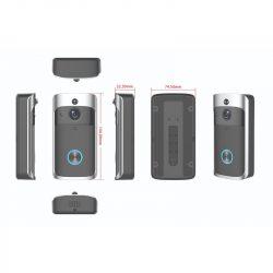 Stilo Smart kaptelefon (videó) vezeték nélküli WIFI-s, akkumulátoros, beltéri egység nélkül STI1571 (javasolt hozzá a STI1572 csengő)