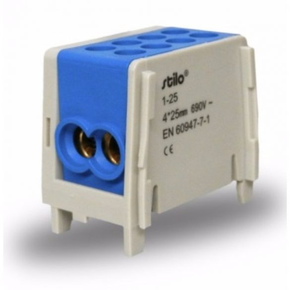 Fővezeték sorkapocs 2x 25/2x25mm2 kék HLAK 25-1/2, STI285 Stilo