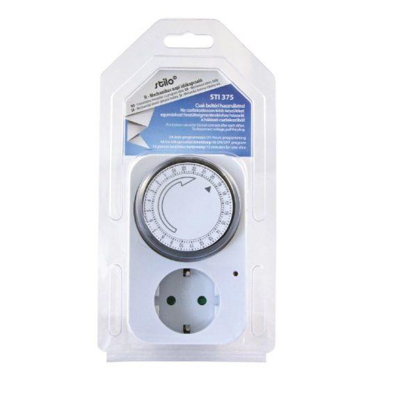 Kapcsolóóra mechanikus napi fehér, max.3500W,220-240V,16A, (STI375) Stilo