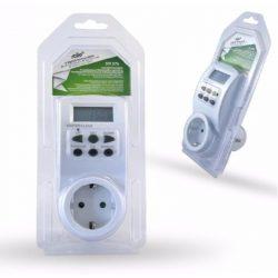 Kapcsolóóra digitális heti időzítő fehér max.3600W, 230V,16A, (STI376) Stilo