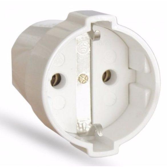 Lengő dugalj fehér CSF 2-162, 16A/250V Stilo (STI444)