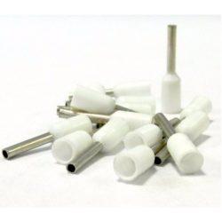 Érvég hüvely szigetelő 0,75mm/ 8 fehér E7508 STI736 Stilo
