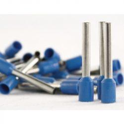 Érvég hüvely szigetelő 2,5mm/ 8 kék E2508 STI739 Stilo