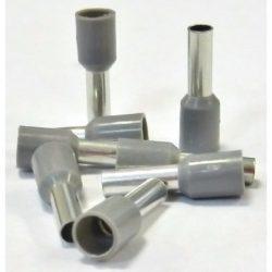 Érvég hüvely szigetelő 4,0mm/ 9 szürke E4009 STI742 Stilo