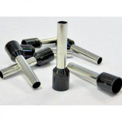 Érvég hüvely szigetelő 6,0mm/12 fekete E6012 STI744 Stilo