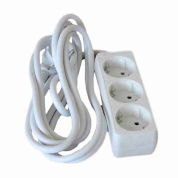 Hosszabbító, elosztó 3-as 1,5fm fehér Hálózati elosztó  3-1.5m   Stilo (STI763)