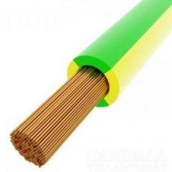 MKH vezeték 1x10mm2 zöld-sárga PVC szigetelésű sodrott réz erű H07V-K (MKH)