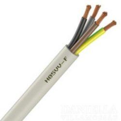 MT kábel 4x0,75mm2 fehér PVC köpenyes réz erű sodrott H05VV-F (MTK)