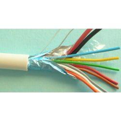 Riasztókábel alarm vezeték 2x0,5+ 8x0,22 mm2 CCA fehér (100) 65V (YYSch, riasztó kábel) Corvin