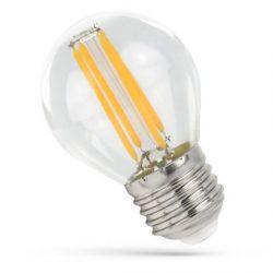 LED kisgömb E27 230V 6W COG NW üveg, WOJ14397 SpectrumLED