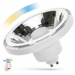 LED AR111 GU10 230V 10W SMD 30° CCT+DIMM WI-FI/BT SMART fehér házas LED izzó, WOJ14512 SpectrumLED