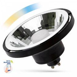 LED AR111 GU10 230V 10W SMD 30° CCT+DIMM WI-FI/BT SMART fekete házas LED izzó, WOJ14513 SpectrumLED