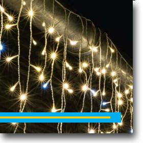 Karácsonyi LED fényfüzérek